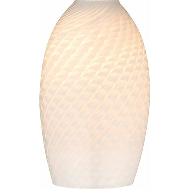 Volume Lighting 5'' Glass Oval Pendant Shade; White