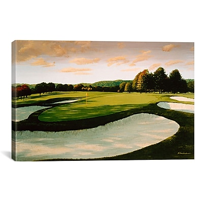 iCanvas Golf Course 8 by William Vanderdasson Painting Print on Canvas; 18'' H x 26'' W x 1.5'' D