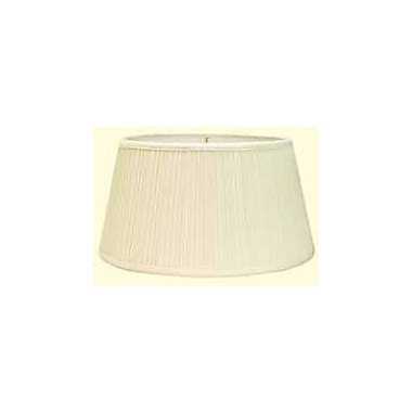 Deran Lamp Shades Mushroom Pleat 16'' Linen Drum Lamp Shade; Natural