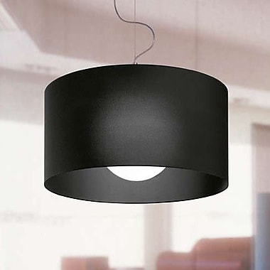 Morosini Fog 1-Light Drum Pendant; Black