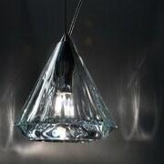 Morosini Karat 1-Light Mini Pendant; Transparent