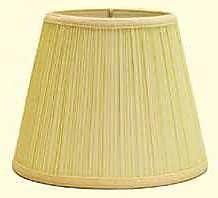 Deran Lamp Shades Mushroom Pleat 12'' Linen Empire Lamp Shade; Forest Green