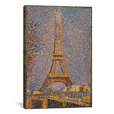 iCanvas 'The Eiffel Tower' by Georges Seurat Painting Print on Canvas; 12'' H x 8'' W x 0.75'' D