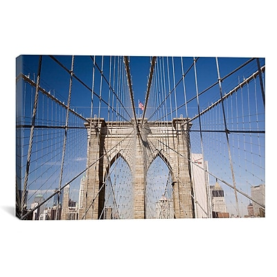 iCanvas Brooklyn Bridge by Monte Nagler Photographic Print on Canvas; 26'' H x 40'' W x 0.75'' D