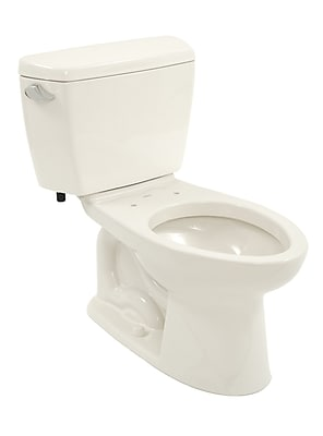 Toto Drake 1.6 GPF Elongated Two-Piece Toilet; Colonial White