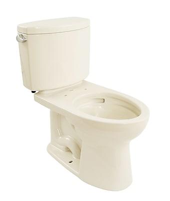 Toto Drake II 1.28 GPF Elongated Two-Piece Toilet; Sedona Beige