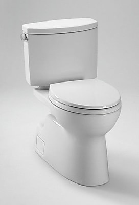 Toto Vespin II High Efficiency 1.28 GPF Elongated Two-Piece Toilet; Cotton