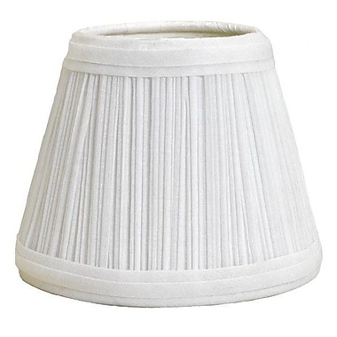 Deran Lamp Shades Mushroom Pleat 12'' Linen Empire Lamp Shade; White