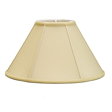 Deran Lamp Shades Mushroom Pleat 16'' Silk/Shantung Empire Lamp Shade; Egg