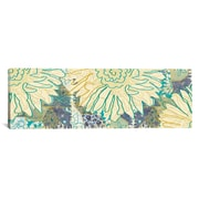 iCanvas Flower Panel II by Erin Clark Painting Print on Canvas; 12'' H x 36'' W x 1.5'' D