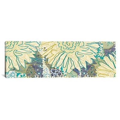 iCanvas Flower Panel II by Erin Clark Painting Print on Canvas; 12'' H x 36'' W x 0.75'' D