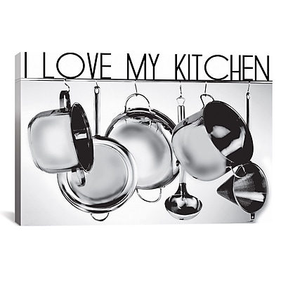 iCanvas I Love My Kitchen by Luz Graphics Graphic Art on Canvas; 18'' H x 26'' W x 1.5'' D