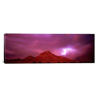 iCanvas Panoramic Tucson Arizona Photographic Prints on Canvas; 12'' H x 36'' W x 1.5'' D