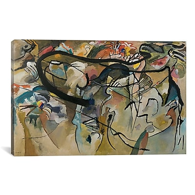 iCanvas Composition V by Wassily Kandinsky Painting Print on Canvas; 26'' H x 40'' W x 0.75'' D