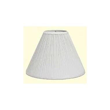 Deran Lamp Shades Mushroom Pleat 7'' Linen Empire Lamp Shade; White