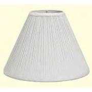 Deran Lamp Shades Mushroom Pleat 9'' Linen Empire Lamp Shade; White
