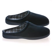 Deluxe Comfort Vamp w/ Checked Lining Male Slippers; 11- 12