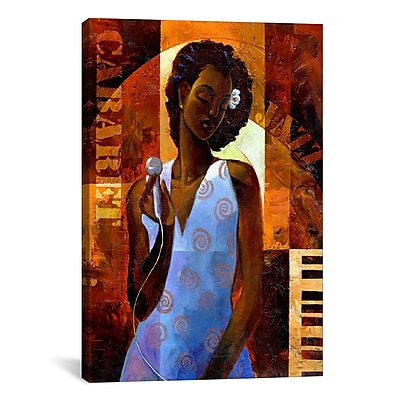 iCanvas Diva by Keith Mallett Painting Print on Canvas; 12'' H x 8'' W x 0.75'' D