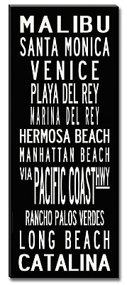 Uptown Artworks LA Coast by Uptown Artworks Framed Textual Art on Wrapped Canvas; 18x45