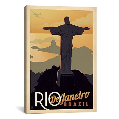 iCanvas Anderson Design Group Rio De Janeiro, Brazil Vintage Advertisement on Canvas
