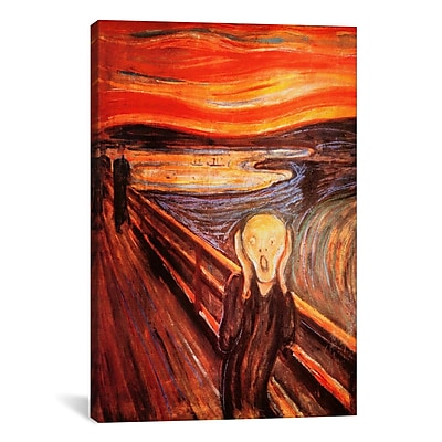 iCanvas 'The Scream' by Edvard Munch Painting Print on Canvas; 12'' H x 8'' W x 0.75'' D