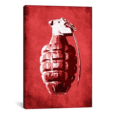 iCanvas Hand Grenade by Michael Tompsett Graphic Art on Canvas; 12'' H x 8'' W x 0.75'' D