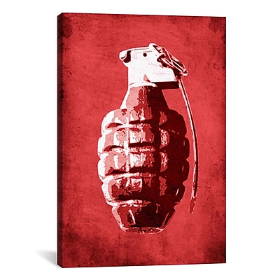 iCanvas Hand Grenade by Michael Tompsett Graphic Art on Canvas; 40'' H x 26'' W x 0.75'' D