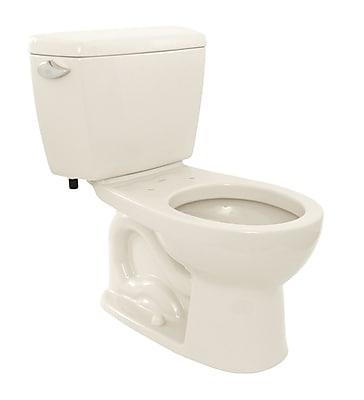 Toto Drake 1.6 GPF Round Two-Piece Toilet; Colonial White