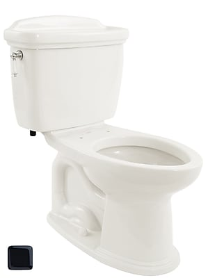 Toto Dartmouth 1.6 GPF Elongated Two-Piece Toilet; Ebony