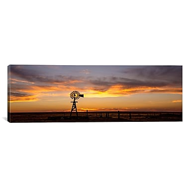 iCanvas 'Plains Windmill' by Dan Ballard Photographic Print on Canvas; 16'' H x 48'' W x 0.75'' D