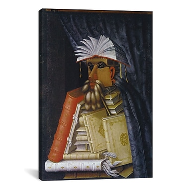 iCanvas 'The Librarian' by Giuseppe Arcimboldo Graphic Art on Canvas; 26'' H x 18'' W x 0.75'' D