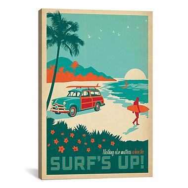 iCanvas Anderson Design Group Surf's Up Vintage Advertisement on Canvas; 26'' H x 18'' W x 1.5'' D