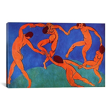 iCanvas 'Dance (II)' 1910 by Henri Matisse Graphic Art on Canvas; 40'' H x 60'' W x 1.5'' D