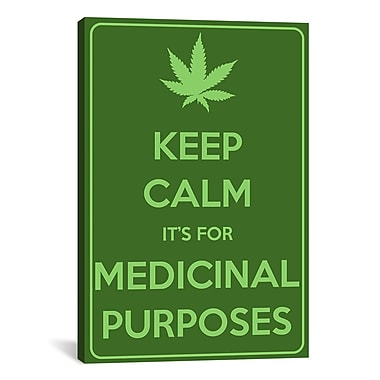 iCanvas Keep Calm It's for Medicinal Purposes Textual Art on Canvas; 26'' H x 18'' W x 0.75'' D