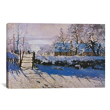 iCanvas 'The Magpie' by Claude Monet Painting Print on Canvas; 26'' H x 40'' W x 1.5'' D