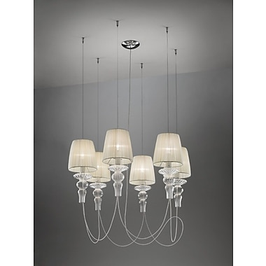 Evi Style Gadora 6-Light Candle-Style Chandelier; White