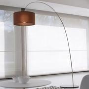 Morosini Fog 85.5'' Arched Floor Lamp; White