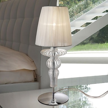 Evi Style Gadora 19.7'' Table Lamp; Ivory