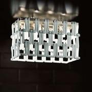 Evi Style Tessuti Mini 8-Light Semi Kitchen Island Pendant; Amber