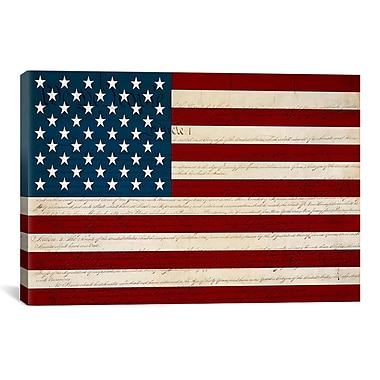 iCanvas U.S. Constitution American Flag Graphic Art on Canvas; 40'' H x 60'' W x 1.5'' D