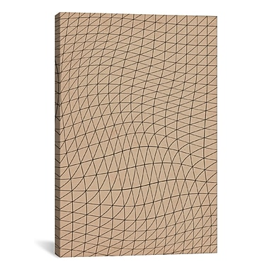 iCanvas Modern Wavy Lines ll Graphic Art on Canvas; 18'' H x 12'' W x 1.5'' D
