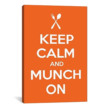 iCanvas Kitchen Keep Calm and Munch On Textual Art on Canvas; 12'' H x 8'' W x 0.75'' D