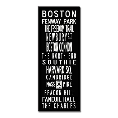 Uptown Artworks Boston by Uptown Artworks Framed Textual Art on Wrapped Canvas; 24x60