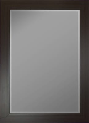 Second Look Mirrors French Burgundy Black Stripes Wall Mirror; 35.5''H x 17.5''W x 0.75''D