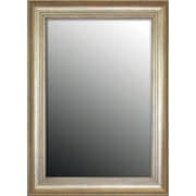 Second Look Mirrors Louis XIV French Silver Wall Mirror; 46.75''H x 36.75''W x 1.5''D