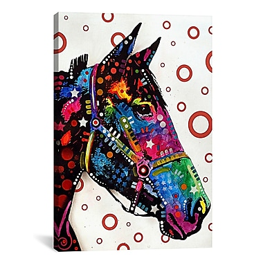iCanvas 'Lonely Horse' by Dean Russo Graphic Art on Canvas; 60'' H x 40'' W x 1.5'' D