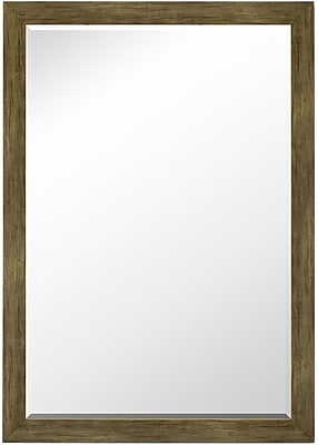 Second Look Mirrors Weathered Sand Barnwood Petite Wall Mirror; 34.25''H x 24.25''W x 0.75''D
