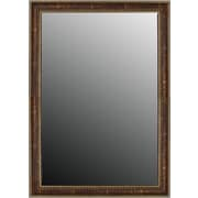 Second Look Mirrors Greco Roman Beaded Weathered Copper Wall Mirror; 32.75''H x 14.75''W x 0.75''D