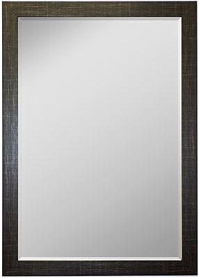 Second Look Mirrors Scotch Plaid Black Wall Mirror; 34.75''H x 24.75''W x 0.75''D
