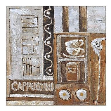 Ren-Wil Cappuccino by Olivia Salazar Painting Print on Wrapped Canvas